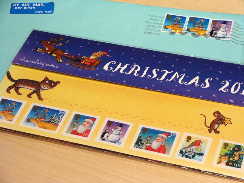 Axel Scheffler-Briefmarken Weihnachten 2012