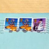 Weihnachtliche Briefmarkenmotive von Axel Scheffler aus England