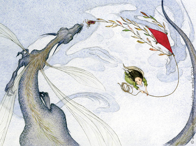 "Andrea Offermann - Illustration aus ""Der Eisdrache"""
