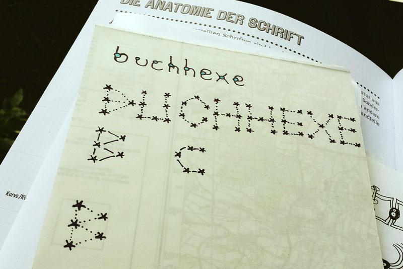 """Schrift-Übungen aus dem Buch """"Buchstaben & Schriften"""" von Tony Seddon"""